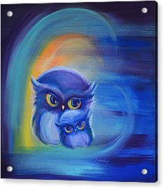 Acrylic Print featuring the painting Owl Always Love You by Agata Lindquist