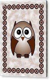 Owl - Birds - Art For Kids Acrylic Print