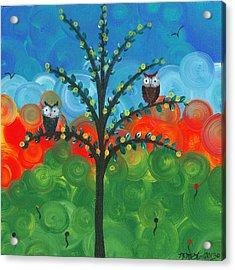 Owl Couples - 01 Acrylic Print