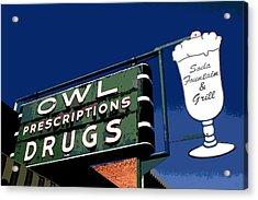 Owl Drugs  Acrylic Print