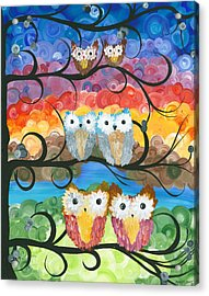 Owl Expressions - 00 Acrylic Print