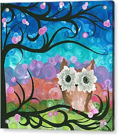 Owl Expressions - 01 Acrylic Print