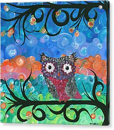 Owl Expressions - 02 Acrylic Print