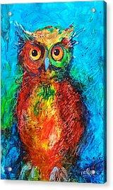 Owl In The Night Acrylic Print