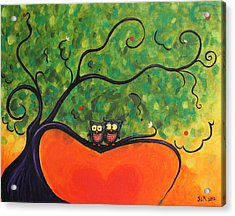 Owl Love You Acrylic Print by Jennifer Alvarez