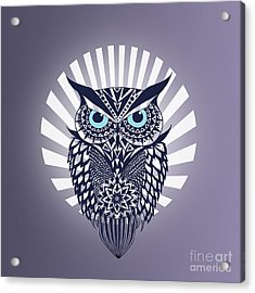Owl Acrylic Print by Mark Ashkenazi