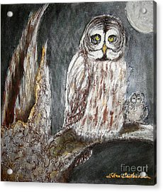Owl Mother Acrylic Print