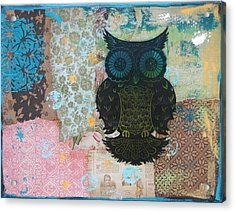 Owl Of Style Acrylic Print by Kyle Wood