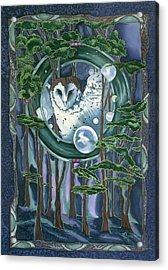 Owl Totem Acrylic Print