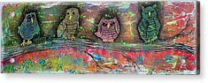 Owl Totem Acrylic Print by Laura Barbosa