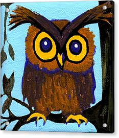 Owlette Acrylic Print by Genevieve Esson