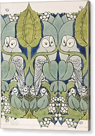 Owls, 1913 Acrylic Print by Charles Francis Annesley Voysey