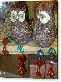 Owls Acrylic Print by Barbara Yodice