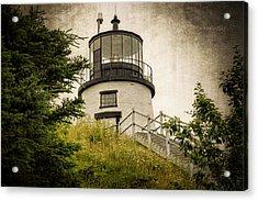 Owls Head Lighthouse Acrylic Print by Joan Carroll