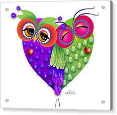 Owl's Love Acrylic Print by Isabel Salvador