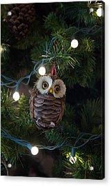 Owly Christmas Acrylic Print