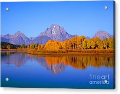 Oxbow Bend In Grand Teton Acrylic Print