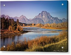 Acrylic Print featuring the photograph Oxbow Bend by Janis Knight