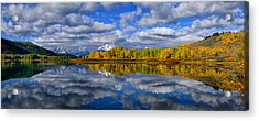 Oxbow Bend Peak Autumn Panorama Acrylic Print