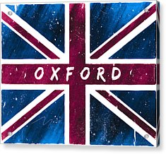 Oxford Distressed Union Jack Flag Acrylic Print by Mark E Tisdale