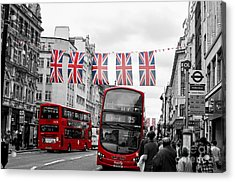 Oxford Street Flags Acrylic Print by Matt Malloy