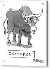 'oxymoron' Acrylic Print