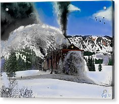 Oy The Snowfighter Acrylic Print by J Griff Griffin