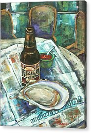 Oyster And Amber Acrylic Print by Dianne Parks