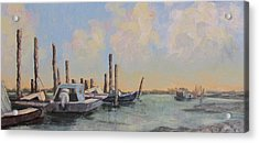 Oyster Boat Evening Acrylic Print by Susan Richardson