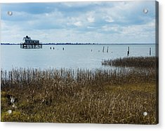 Oyster Shack And Tall Grass Acrylic Print
