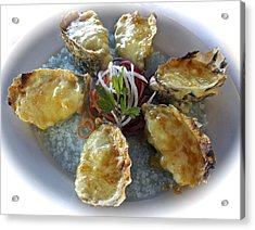 Oysters Mornay At Doyles Acrylic Print by Venetia Featherstone-Witty