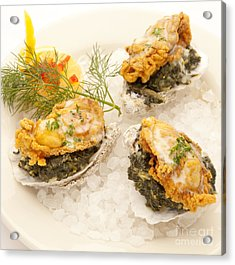 Oysters Rockefeller Acrylic Print by New  Orleans Food