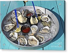 Oysters Acrylic Print by Sophie Vigneault