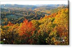 Ozark Autumn White River Valley - Arkansas/missouri Line Acrylic Print by Gerald MacLennon