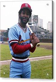 Ozzie Smith By George Brace Acrylic Print by Retro Images Archive