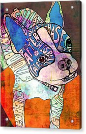 Ozzy The Wonder Dog Acrylic Print