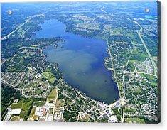 P-024 Pewaukee Lake Waukesha Co. Wisconsin Acrylic Print by Bill Lang