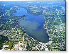 P-024 Pewaukee Lake Waukesha Co. Wisconsin Acrylic Print