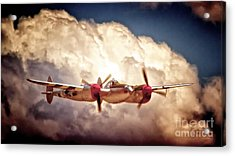 P-38 'dancin' With The Lightning' Acrylic Print