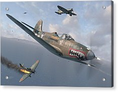 P-400 Hells Bells Acrylic Print by Robert Perry