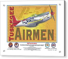 P-51 D Tuskegee Airmen Acrylic Print