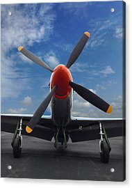 P-51 Ready For Flight Acrylic Print