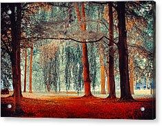 Alien Forest. Nature In Alien Skin Acrylic Print by Jenny Rainbow
