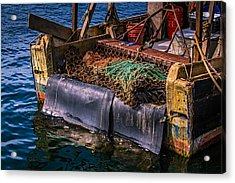 P-towns Fishing Troller  Acrylic Print by Susan Candelario