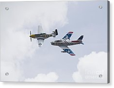 P51 And F86 Heritage Flight Acrylic Print by Ules Barnwell