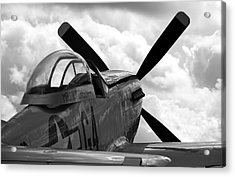 P51 In Clouds Acrylic Print by Remy NININ