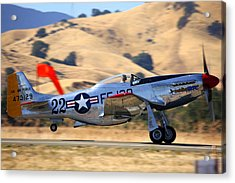 P51 Merlin's Magic On Take-off Roll Acrylic Print