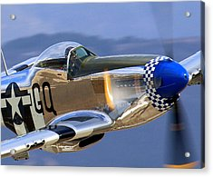 Acrylic Print featuring the photograph Grim Reaper P51 Mustang At Salinas Air Show by John King