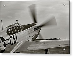 P51 Mustang Takeoff Ready Acrylic Print