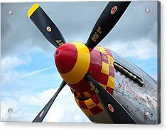 P51 Propeller Acrylic Print by Remy NININ